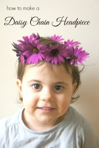 How to make a daisy chain headpiece. So pretty