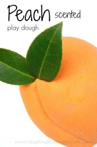 peach scented play dough for kids