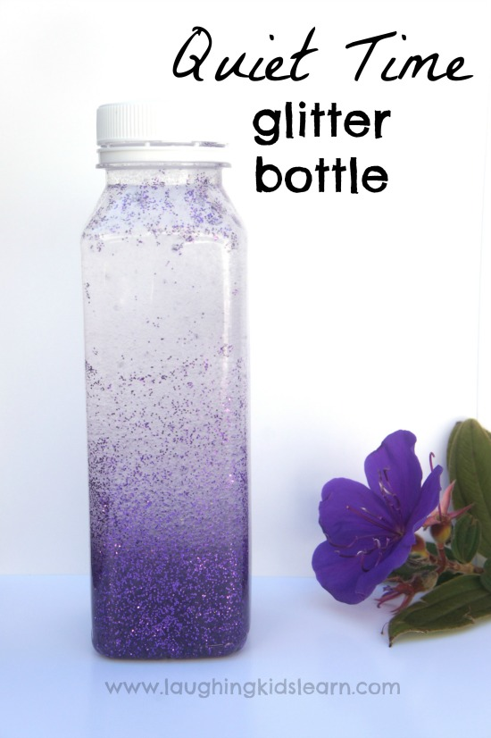 Calming glitter bottle for 'quiet time'