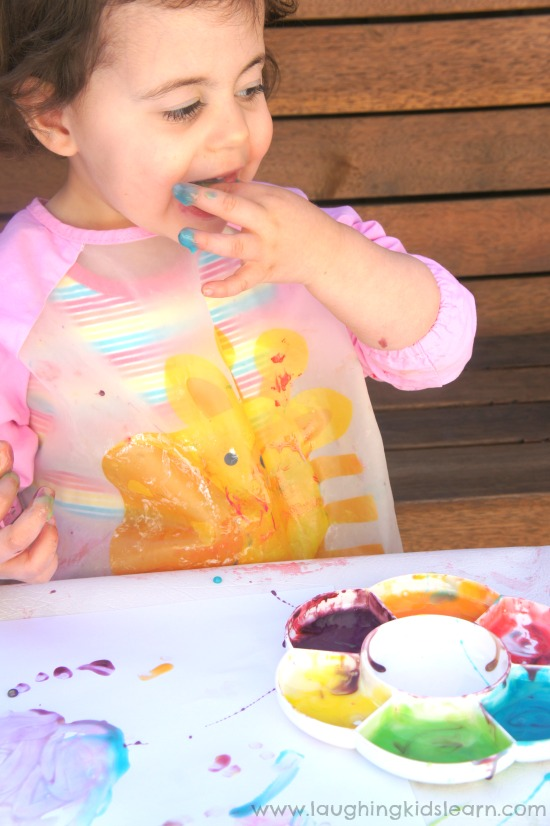 tasting edible paint - 2 ingredients