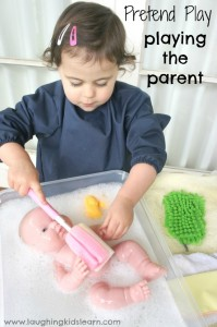 pretend play: playing the parent