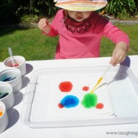 Colour painting with droppers