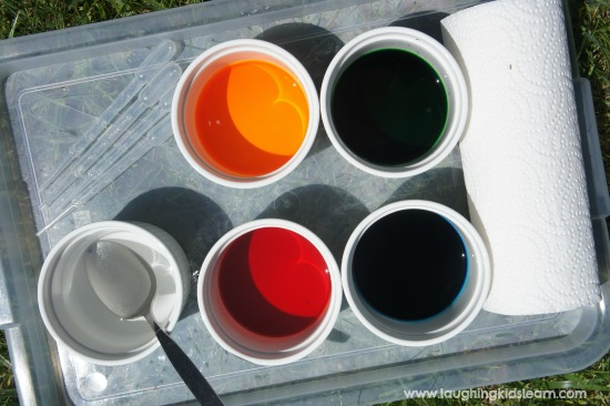 what you will need for painting activity