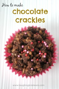 How to make chocolate crackles for kids. Great food treat to have at kids parties.
