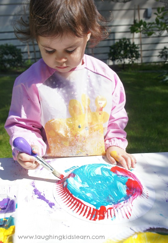 painting birds activity. Great for spring