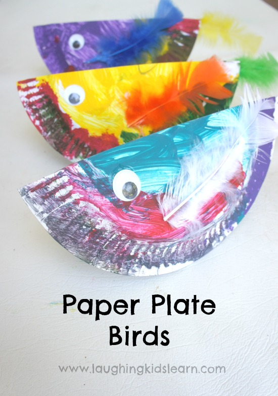 sc 1 st  Laughing Kids Learn & Paper Plate Birds - Laughing Kids Learn
