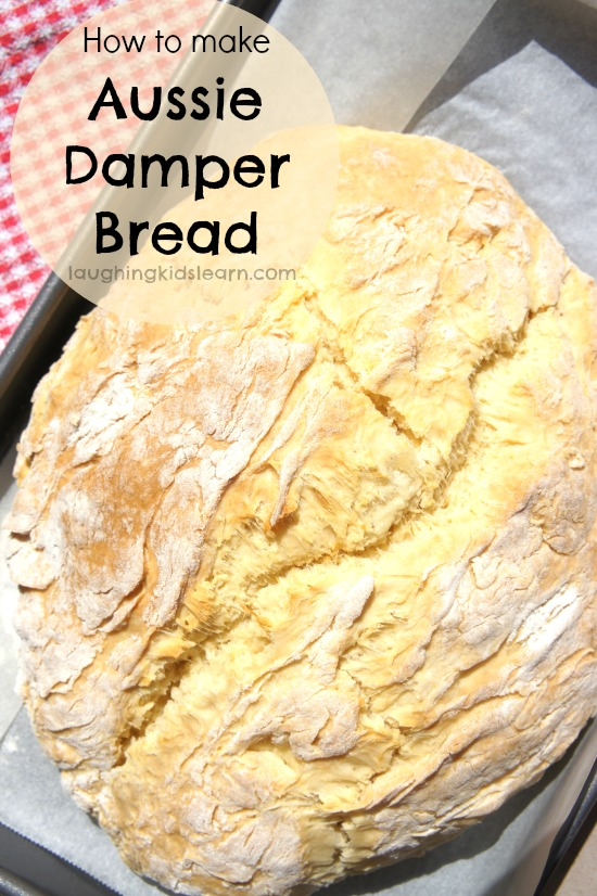 how to make Aussie damper bread for Australia Day