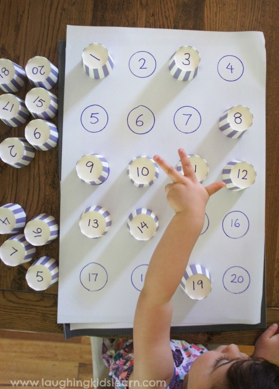learning about numbers through play with kids