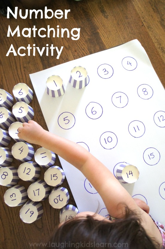 Number Matching Activity For Kids Laughing Kids Learn