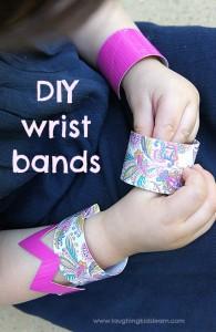 DIY wrist band craft for kids