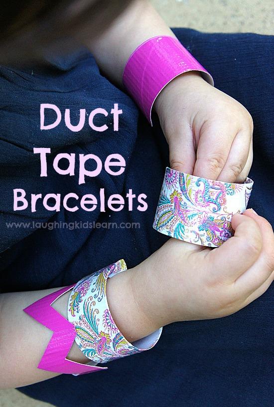 Duct tape bracelets for kids to make