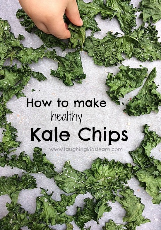 how to make healthy kale chips with kids