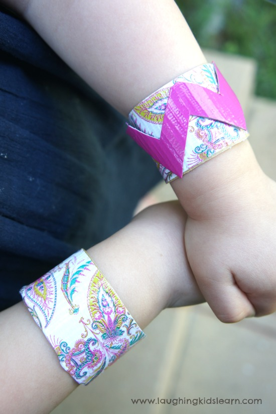 toilet roll wrist bands made by kids