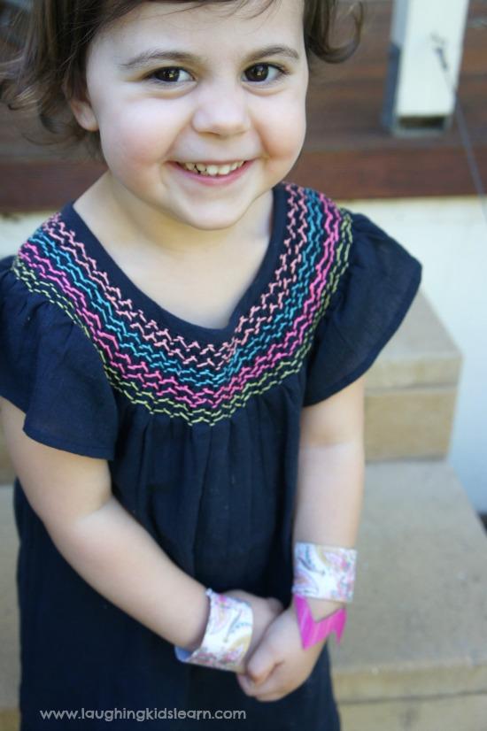 wearing simple cuff bracelets