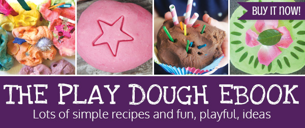Simple play dough ebook with recipes and play dough activities for kids.