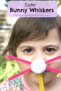 Easter bunny whiskers craft for kids