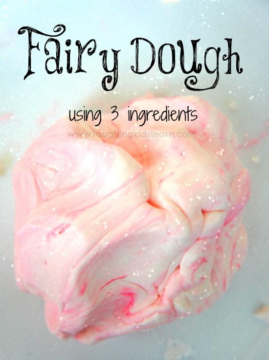 Fairy Playdough using three ingredients