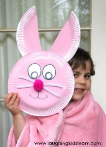 Easter bunny craft using paper plates