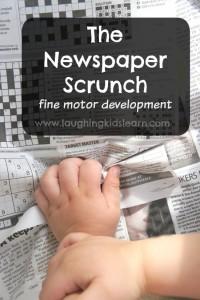 Fine motor activity using newspaper