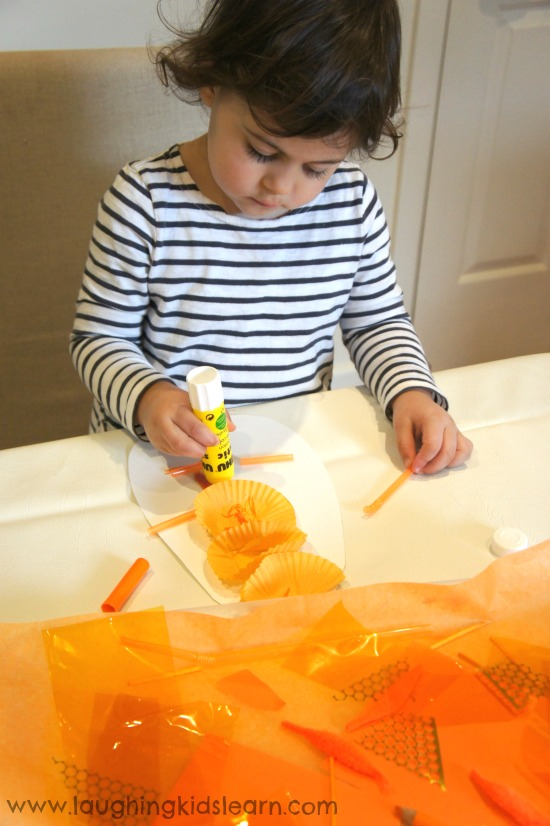 Gluing and sticking activity