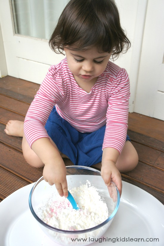 Mixing dough for play