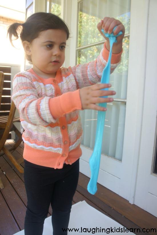 Super stretchy sensory flubber for kids