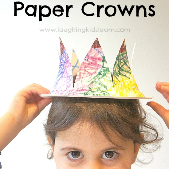 sc 1 st  Laughing Kids Learn & Paper plate crowns - Laughing Kids Learn
