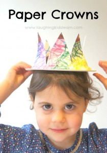 Simple paper plate crown for kids to make