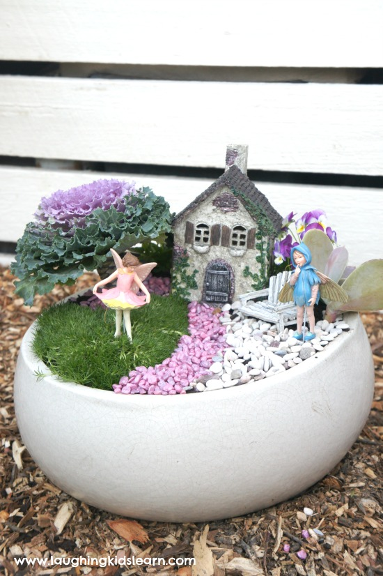 Beautiful bowl fairy garden