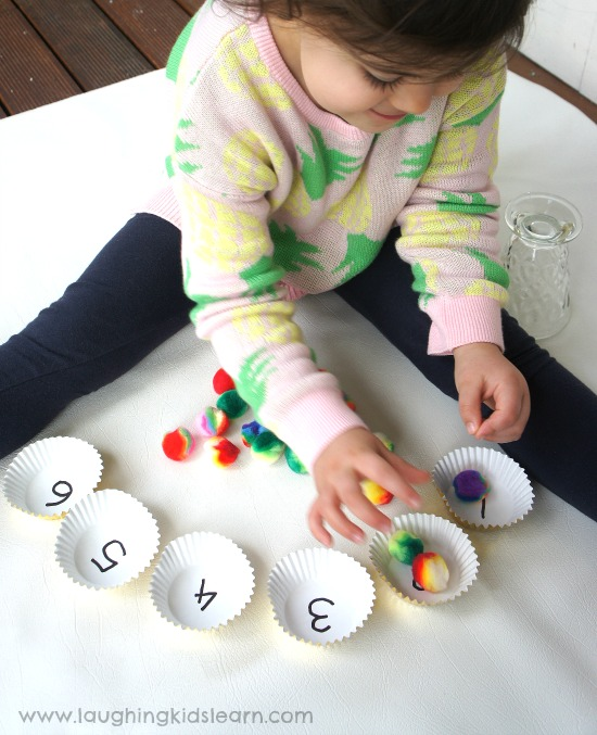 Counting and number recognition activity for kids