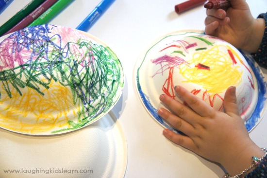 Decorated paper plates