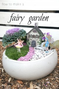Fairy garden instructions on how to make one