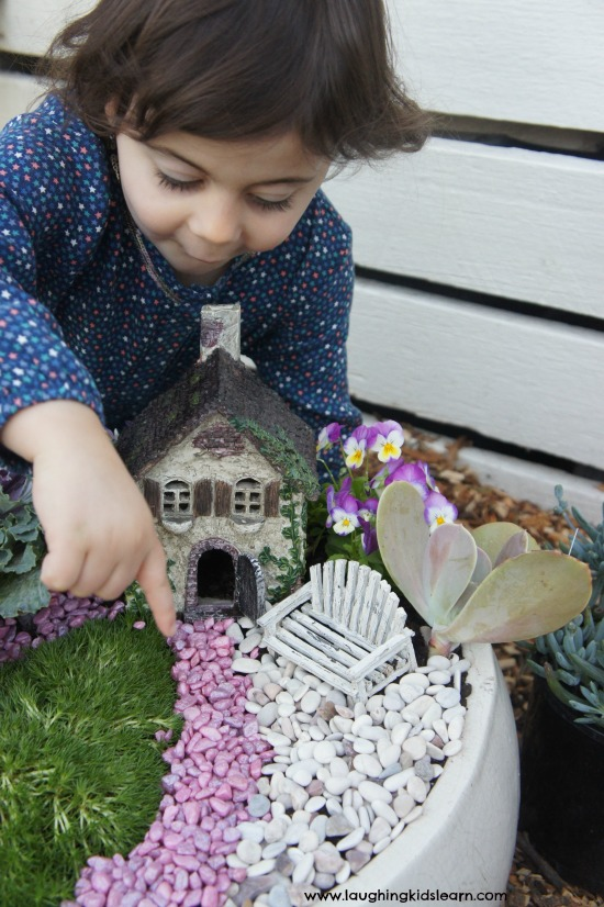 Fairy garden path for kids