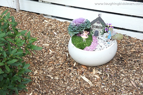Small And Simple Fairy Garden