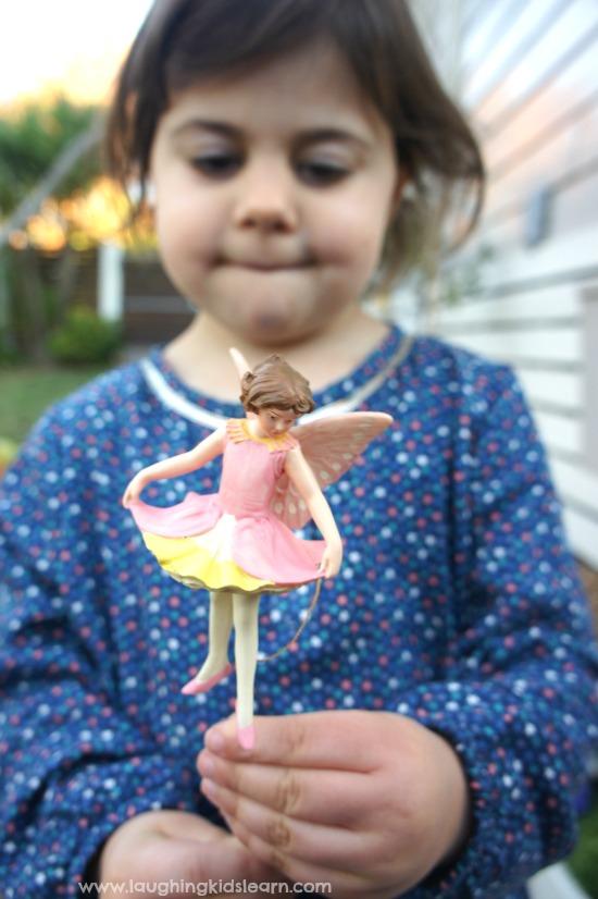 Pink fairy for fairy garden