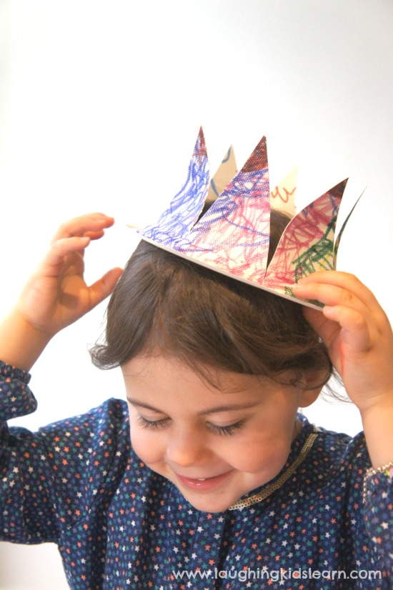 Simple paper plate king and queen crown