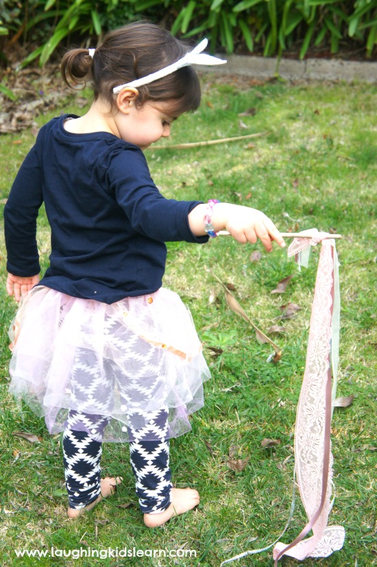 how to make ribbon wands for kids