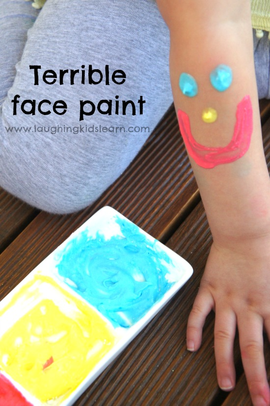 Terrible face paint