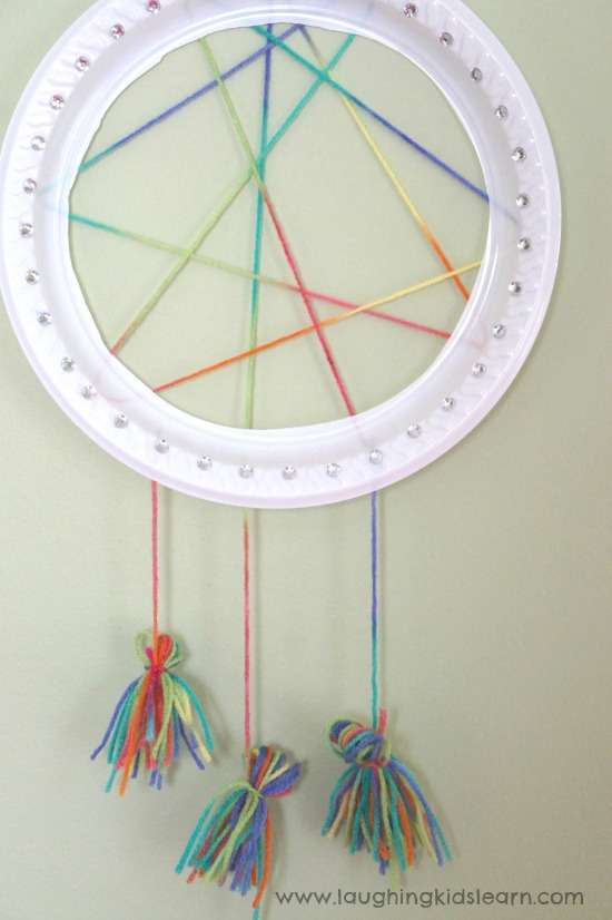 Simple Dream Catcher Craft For Kids Laughing Kids Learn Best Making Dream Catchers With Kids
