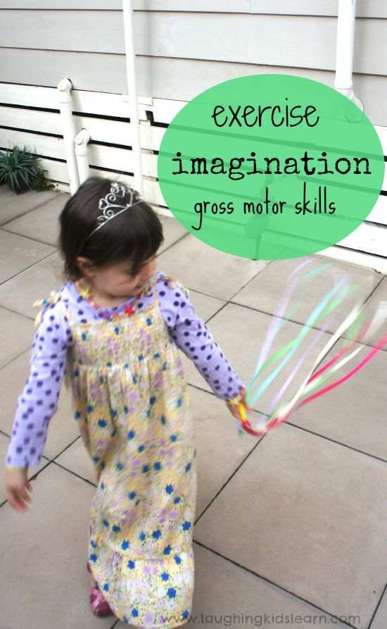 Dancing rainbow streamers on a ring is great fun for kids. It gets them outside playing, using their imagination, engaging the large gross motor muscles and exercising.