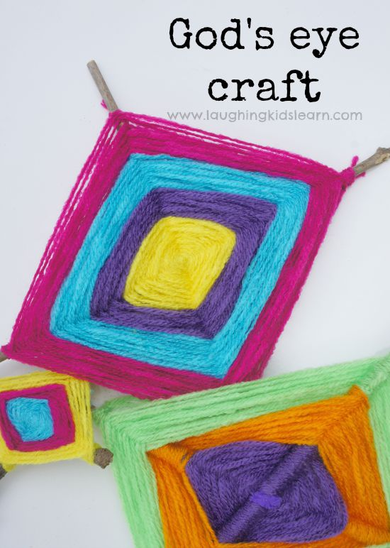 How to make a gods eye craft for kids