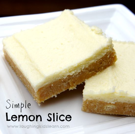 Simple and delicious Lemon Slice recipe to make with kids