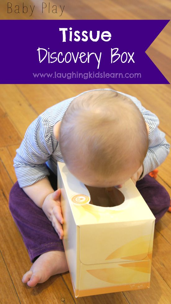 Tissue discovery box for baby play