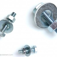 Nuts, bolts and washers are fun for kids to play with. Great for developing fine motor skills too.