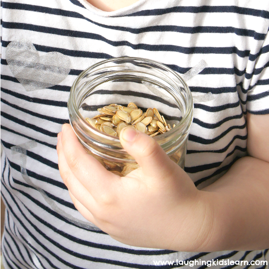 FB pumpkin seeds snack idea for kids to enjoy,