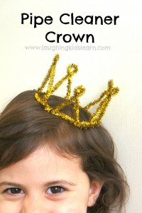 How to make a pipe cleaner crown