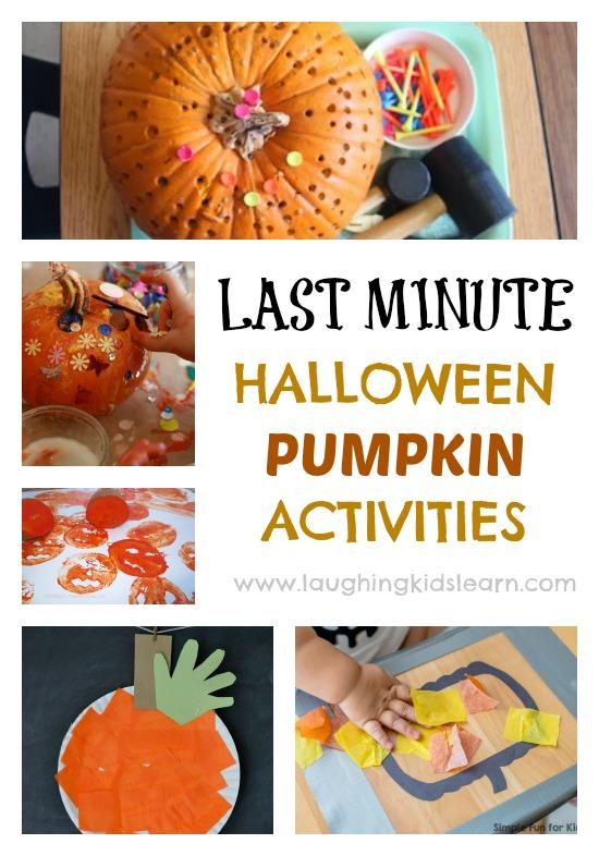 Last minute halloween activities