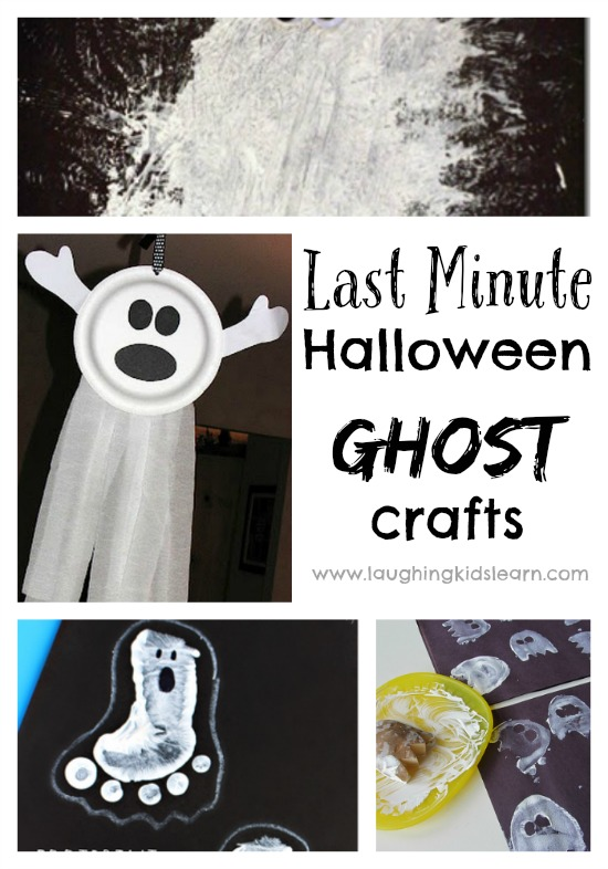 Ghost crafts for halloween. Great for last minute