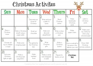 Christmas Activities calendar 2015 that is a free printable
