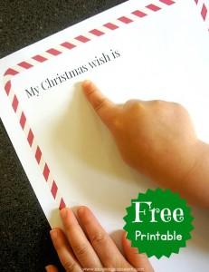 My Christmas wish printable page